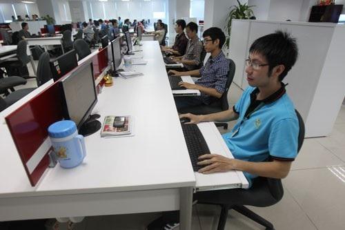 Kỹ sư phần mềm Việt Nam tại Công viên Phần mềm Quang Trung Ảnh: Hoàng Triều