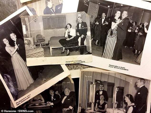 Trong chiếc túi vẫn còn những bức ảnh chụp vợ chồng người đàn ông đã tặng chiếc túi cho chị gái của bà Linda.