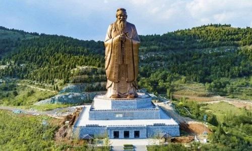 Bức tượng bằng đồng khánh thành vào dịp Trung thu tới đây sẽ là bức tượng của Khổng Tử cao nhất thế giới hiện nay
