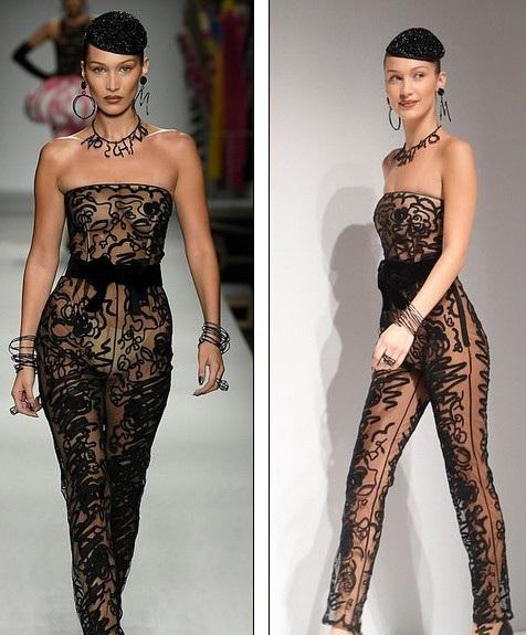 Siêu mẫu Bella Hadid trong bộ đồ xuyên thấu