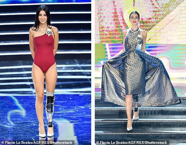 Chiara Bordi tại cuộc thi Hoa hậu Ý vừa diễn ra.