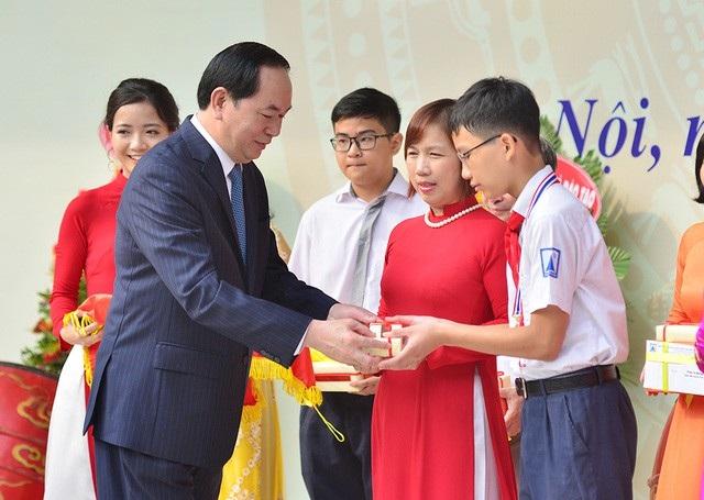 Ngày 1/9/2017, Chủ tịch nước Trần Đại Quang chúc mừng ngành giáo dục, các bậc phụ huynh và các em học sinh, sinh viên nhân dịp khai giảng năm học mới 2017-2018.