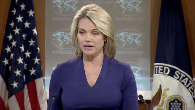 Phát ngôn viên Bộ Ngoại giao Mỹ Heather Nauert (Ảnh: AFP)