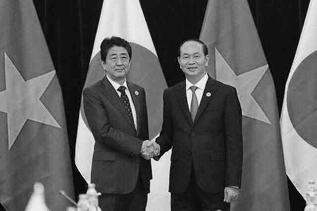 Thủ tướng Nhật Bản bày tỏ sự kính trọng đối với Chủ tịch nước Trần Đại Quang, người lãnh đạo sáng suốt đã xây dựng nên quan hệ hợp tác gắn bó giữa hai nước Việt Nam - Nhật Bản