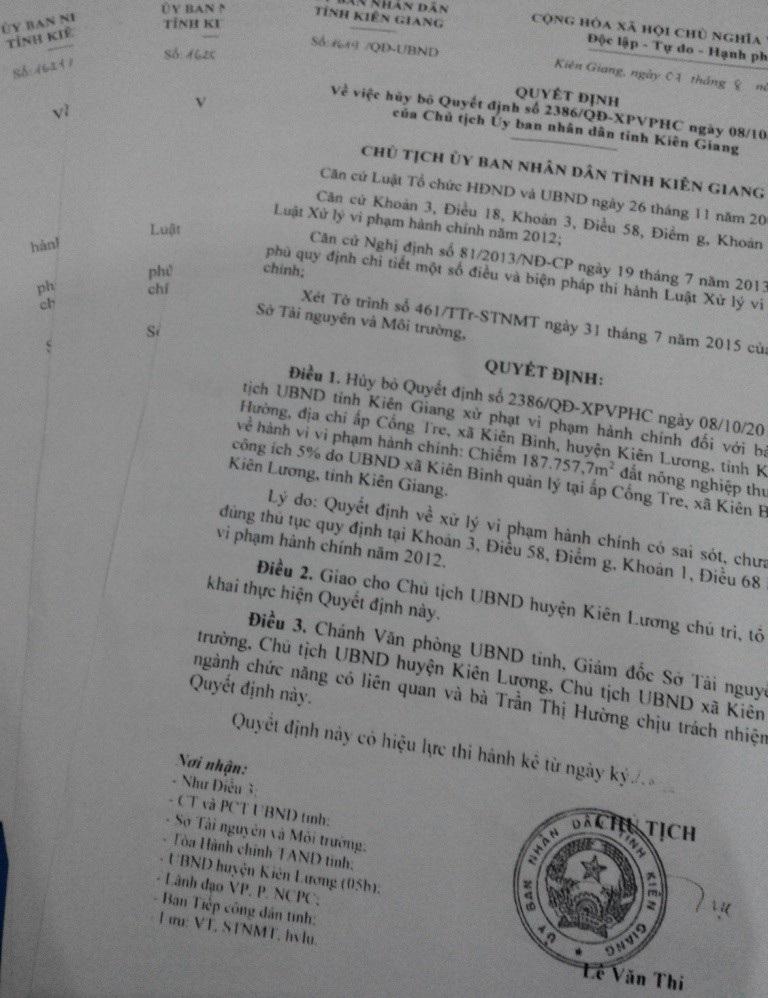 Bài 15: Công dân Tiếp tục ngóng kết luận của Chủ tịch UBND tỉnh Kiên Giang - Ảnh 4.