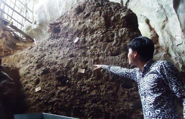 Các tầng văn hóa cổ được tìm thấy trong hang