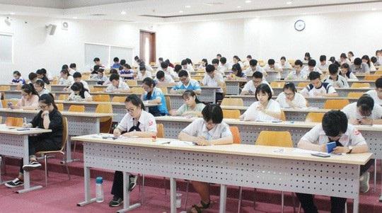 Thí sinh dự kỳ thi đánh giá năng lực vào Trường ĐH Quốc tế - ĐH QG TPHCM.