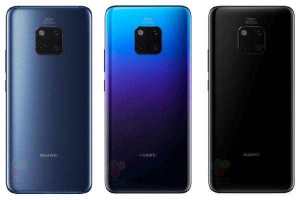 Các phiên bản màu sắc khác nhau của Huawei Mate 20 Pro
