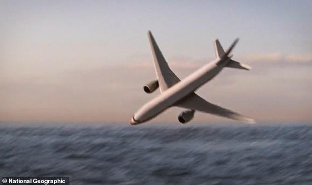 Hình ảnh 3D mô tả khoảnh khắc MH370 rơi xuống biển (Ảnh: Nat Geo)