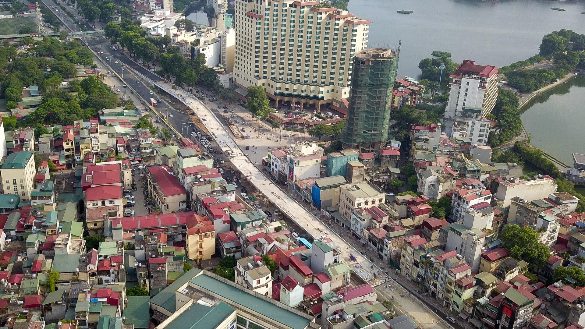 Hà Nội: Toàn cảnh dự án cầu vượt An Dương sau hơn một năm thi công - Ảnh 1.