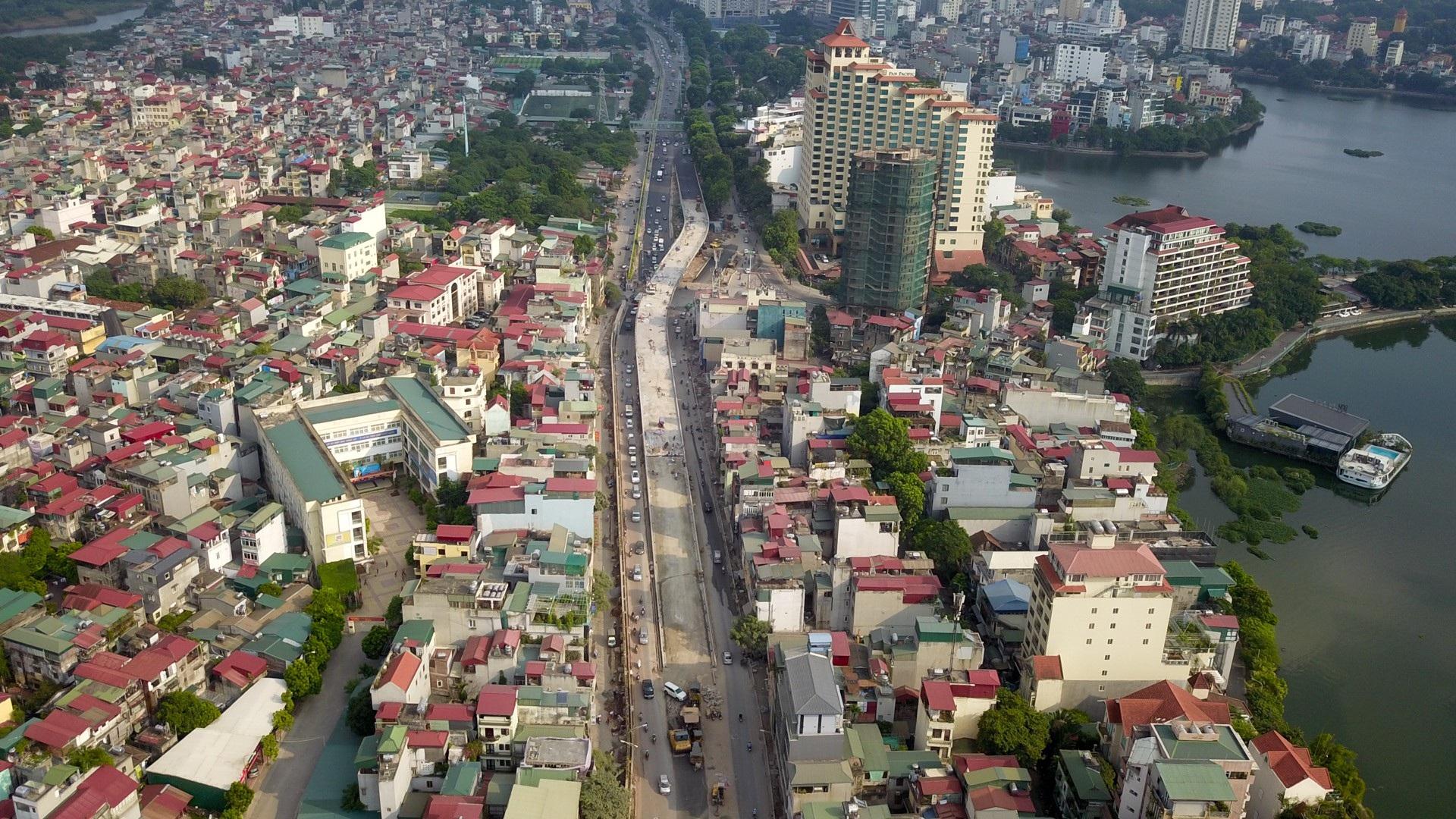 Hà Nội: Toàn cảnh dự án cầu vượt An Dương sau hơn một năm thi công - Ảnh 7.