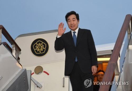 Thủ tướng Hàn Quốc rời căn cứ không quân Seoul để tới Hà Nội ngày 25/9 (Ảnh: Yonhap)