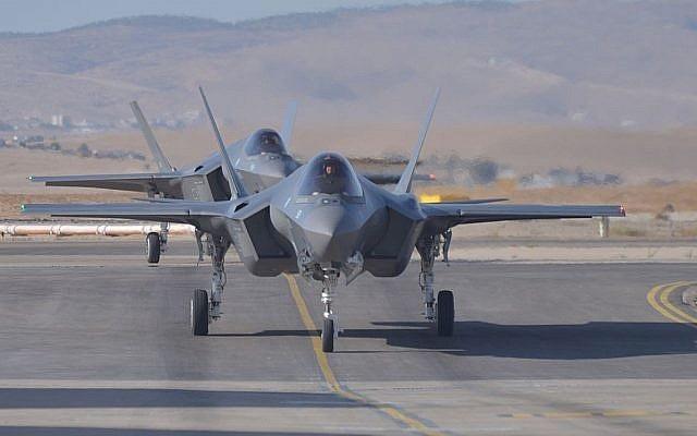 Các máy bay chiến đấu F-35 của không quân Israel (Ảnh: Times of Israel)