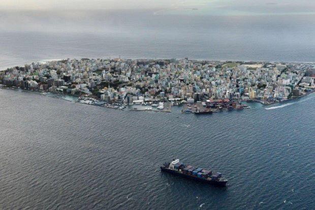 Thủ đô Male của Maldives (Ảnh: AFP)