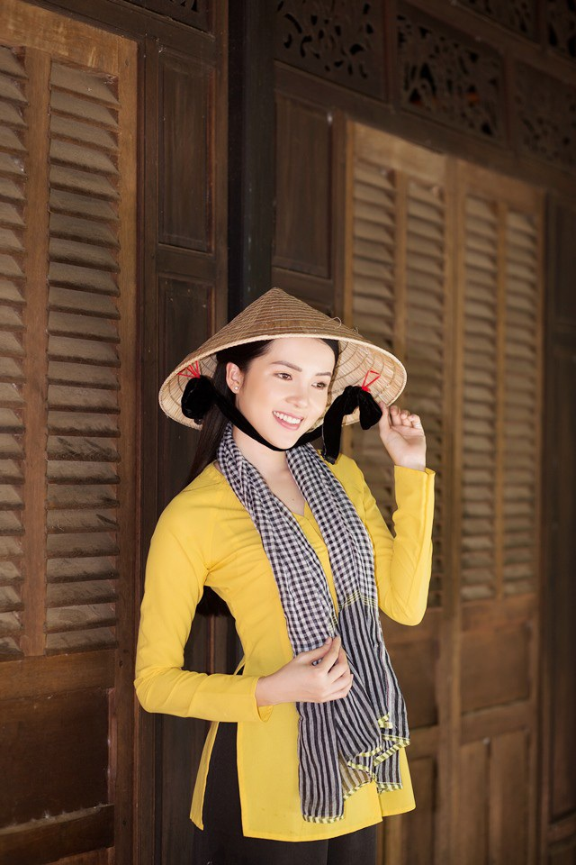 """Hoa khôi Thúy Vi dịu dàng """"hóa"""" thiếu nữ thôn quê - 5"""