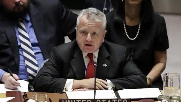 Thứ trưởng Ngoại giao Mỹ John Sullivan phát biểu tại Hội đồng Bảo an Liên Hợp Quốc (Ảnh: AFP)