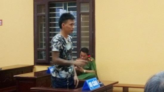 Bị cáo Dũng tại phiên tòa