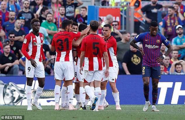 Bilbao mở tỷ số trước nhờ công Marcos ở phút 40