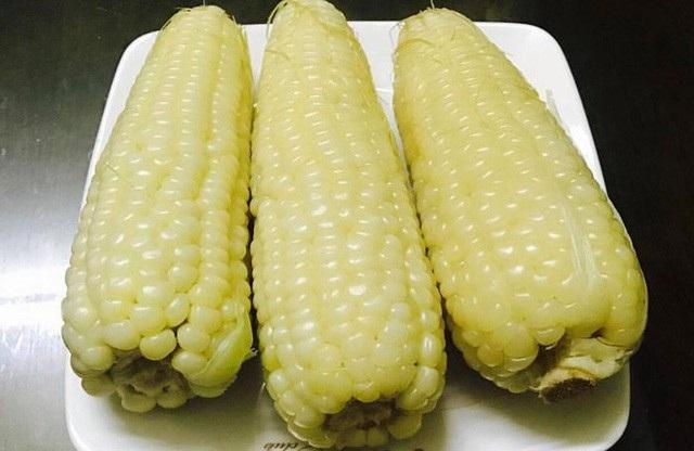 Ngô nếp Nhật đang được rao bán với giá 150.000 đồng/bắp (Ảnh: Khuc Ngoc Anh)
