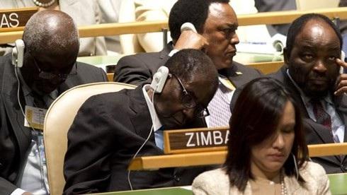 Đây là Tổng thống Zimbabwe Robert Mugabe tại Đại hội đồng LHQ thứ 67 vào tháng 9/2012. Ảnh GETTY IMAGES.