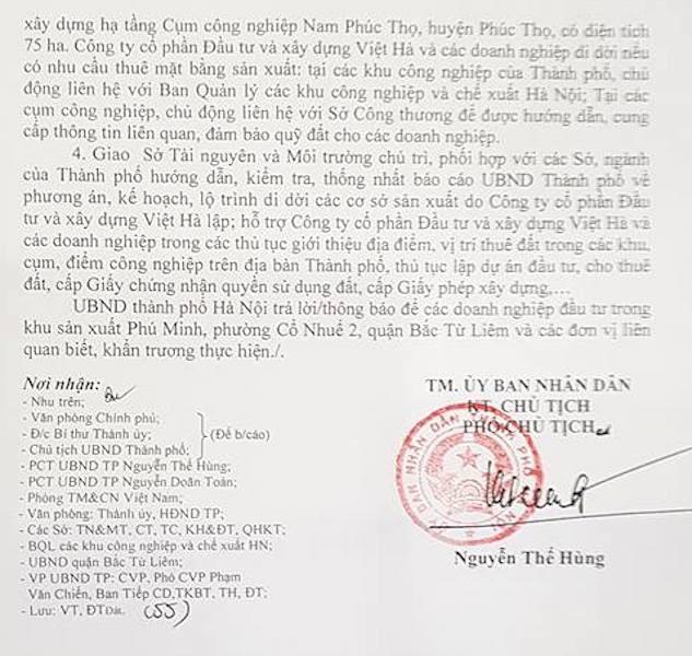 Hà Nội: Địa điểm di dời cho gần 30 doanh nghiệp kêu cứu, Công ty Việt Hà cần cung cấp thông tin cụ thể? - Ảnh 2.