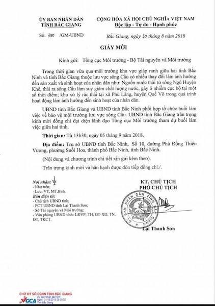 Tỉnh Bắc Giang, Bắc Ninh họp tìm phương án giải cứu sông Cầu đang giãy chết! - Ảnh 2.