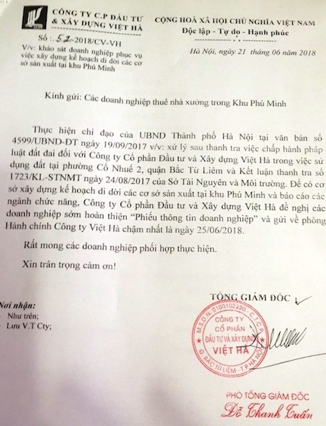 Hà Nội: Địa điểm di dời cho gần 30 doanh nghiệp kêu cứu, Công ty Việt Hà cần cung cấp thông tin cụ thể? - Ảnh 4.