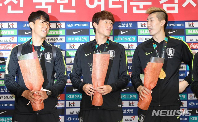 Toàn đội Olympic Hàn Quốc nhận được khoảng 628 triệu đồng tiền thưởng sau khi giành huy chương vàng Asiad 2018