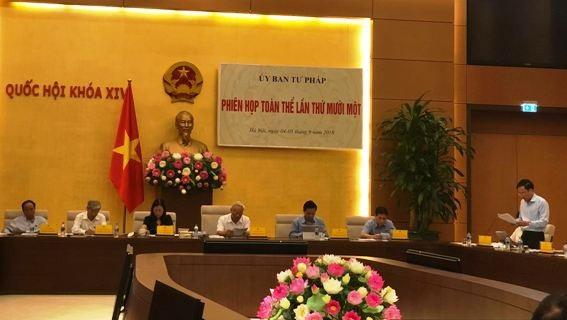 Uỷ ban Tư pháp của Quốc hội cho ý kiến vào báo cáo của Chính phủ về công tác PCTN năm 2018 (Ảnh: TH).