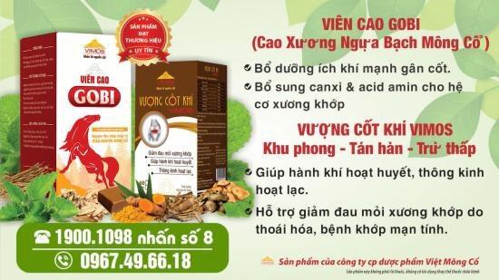 - Viên Cao GOBI: được bào chế từ nguồn nguyên liệu chính là Cao xương ngựa bạch Mông Cổ với các thành phần dưỡng chất tốt cho khớp như: canxi, photpho, magie, oscerin, keratin, acid amin…