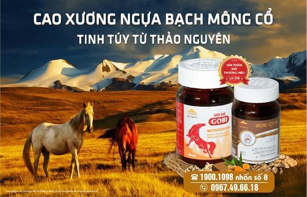 Cao xương ngựa bạch Mông Cổ vị ngọt, tính mát… giàu dinh dưỡng cho khớp.