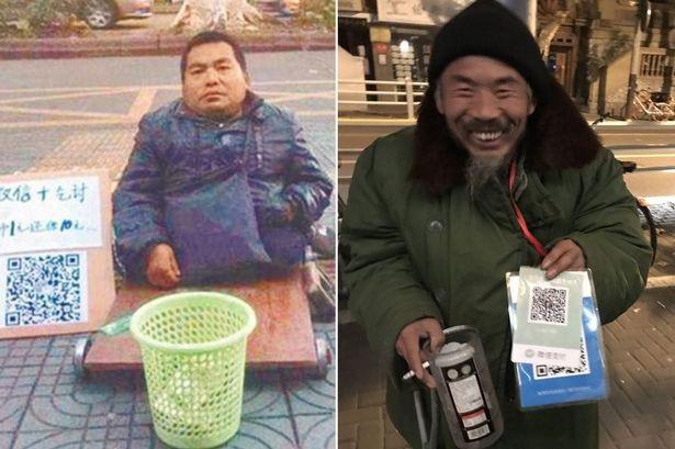 Bùng nổ thương mại điện tử và mã QR Code tại Trung Quốc làm thay đổi cả những người ăn mày.
