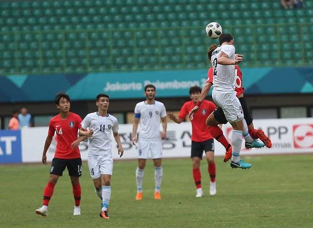Hàn Quốc đã trải qua 120 phút nghẹt thở mới thắng Uzbekistan 4-3 ở tứ kết Asiad 2018