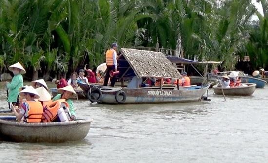 Lực lượng chức năng kiểm tra ở khu rừng dừa Bảy Mẫu