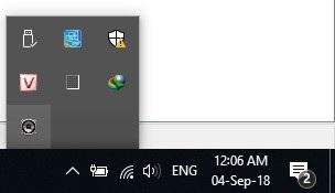 Biểu tượng phần mềm WifiAudio xuất hiện trên khay hệ thống của Windows