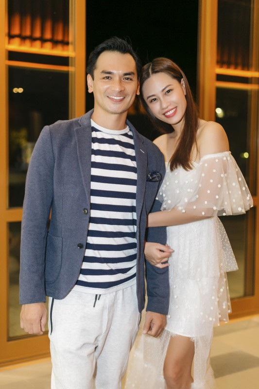 Cựu siêu mẫu Đức Hải - Hoa hậu Phan Thu Quyên.