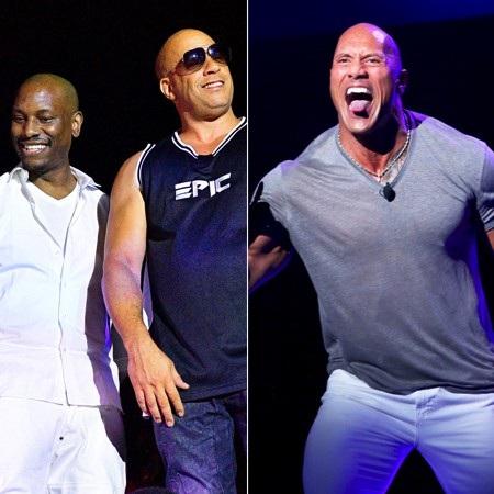 """Dù Tyrese Gibson và Dwayne Johnson có không ưa nhau đến mấy thì người hâm mộ vẫn không khỏi sửng sốt khi thấy Gibson thẳng thừng chỉ trích """"The Rock"""" hồi tháng 10 năm ngoái. Cụ thể, Tyrese Gibson cho rằng tay cựu đô vật nổi tiếng đã sử dụng """"quyền lực đen"""" để trở thành trung tâm trong bộ phim """"Fast and furious 9"""" và gây ra rất nhiều ức chế."""