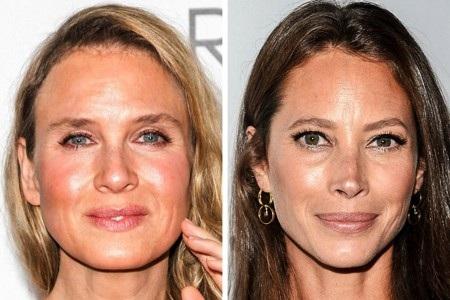"""Cả Renée Zellweger lẫn Christy Turlington đều cùng sinh năm 1969 nhưng trong khi Christy vẫn mang một dáng vẻ tự nhiên, thân thiện thì """"tiểu thư Jones"""" lại có gương mặt cứng đờ, gượng gạo vì dao kéo"""