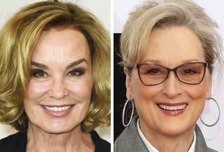 Chỉ thoáng nhìn cũng có thể thấy rõ gương mặt khác biệt của hai ngôi sao gạo cội Jessica Lange và Meryl Streep, tất cả cũng chỉ vì phẫu thuật thẩm mỹ