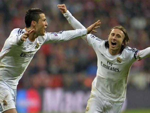Cặp đôi ngôi sao Cristiano Ronaldo và Luka Modric khi còn thi đấu cùng nhau ở Real Madrid