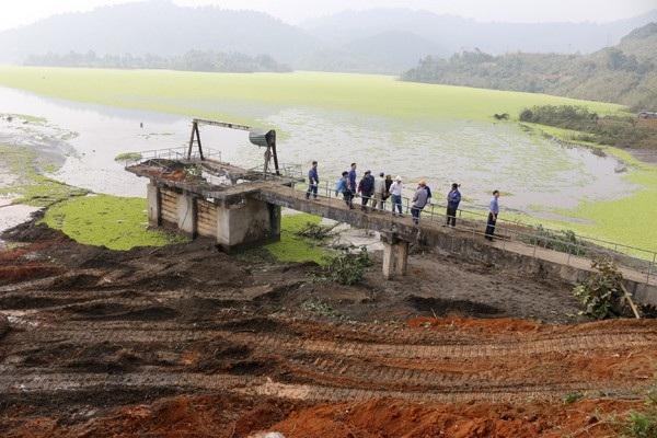 Khu vực xảy ra sự cố hồ thải a pa tít