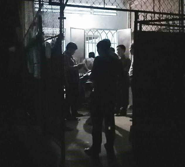 Khu phòng trò nơi xảy ra vụ nổ súng.