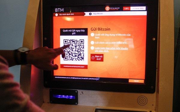 Cận cảnh một ATM Bitcoin (viết tắt là BTM) ghi nhận tại Việt Nam.