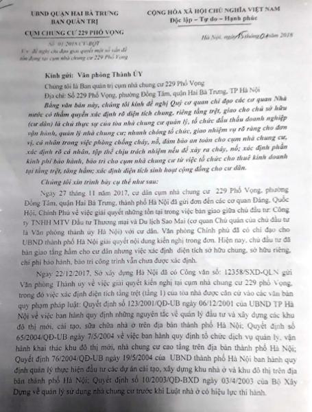Cư dân chung cư 229 phố Vọng phản đối kết luận của Sở Xây dựng TP Hà Nội! - 3