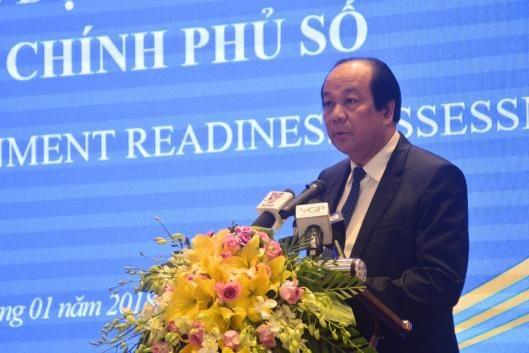 Bộ trưởng Mai Tiến Dũng chủ trì hội thảo về Chính phủ số (ảnh: VGP)