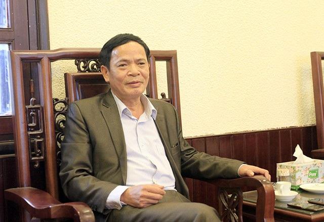 Phó Chủ tịch UBND huyện Quốc Oai - Đỗ Lai Luật chia sẻ với báo chí thông tin ông Lâm mất tích