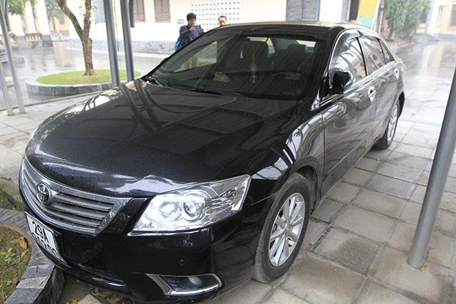 Chiếc ô tô được ông Lâm sử dụng được tìm thấy tại khu vực đường Trần Duy Hưng