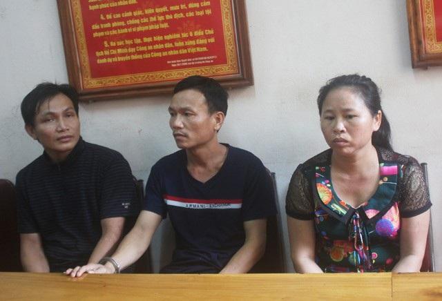 Nhóm đối tượng mua bán người bị Công an huyện Tương Dương bắt giữ