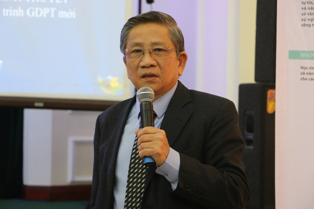 GS.TS Nguyễn Minh Thuyết, Tổng Chủ biên chương trình giáo dục phổ thông mới.