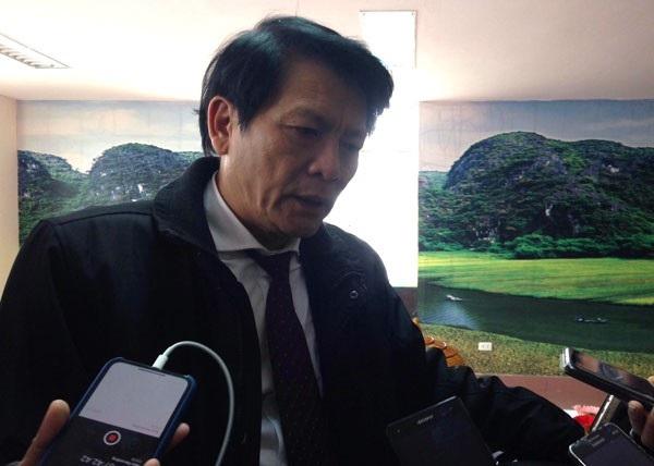 Ông Nguyễn Quang Vinh, Cục trưởng Cục Nghệ thuật Biểu diễn trả lời phỏng vấn bên lề Hội nghị tổng kết ngành văn hóa, thể thao và du lịch sáng nay, ngày 11/1/2018 (Ảnh: Nguyễn Hằng)